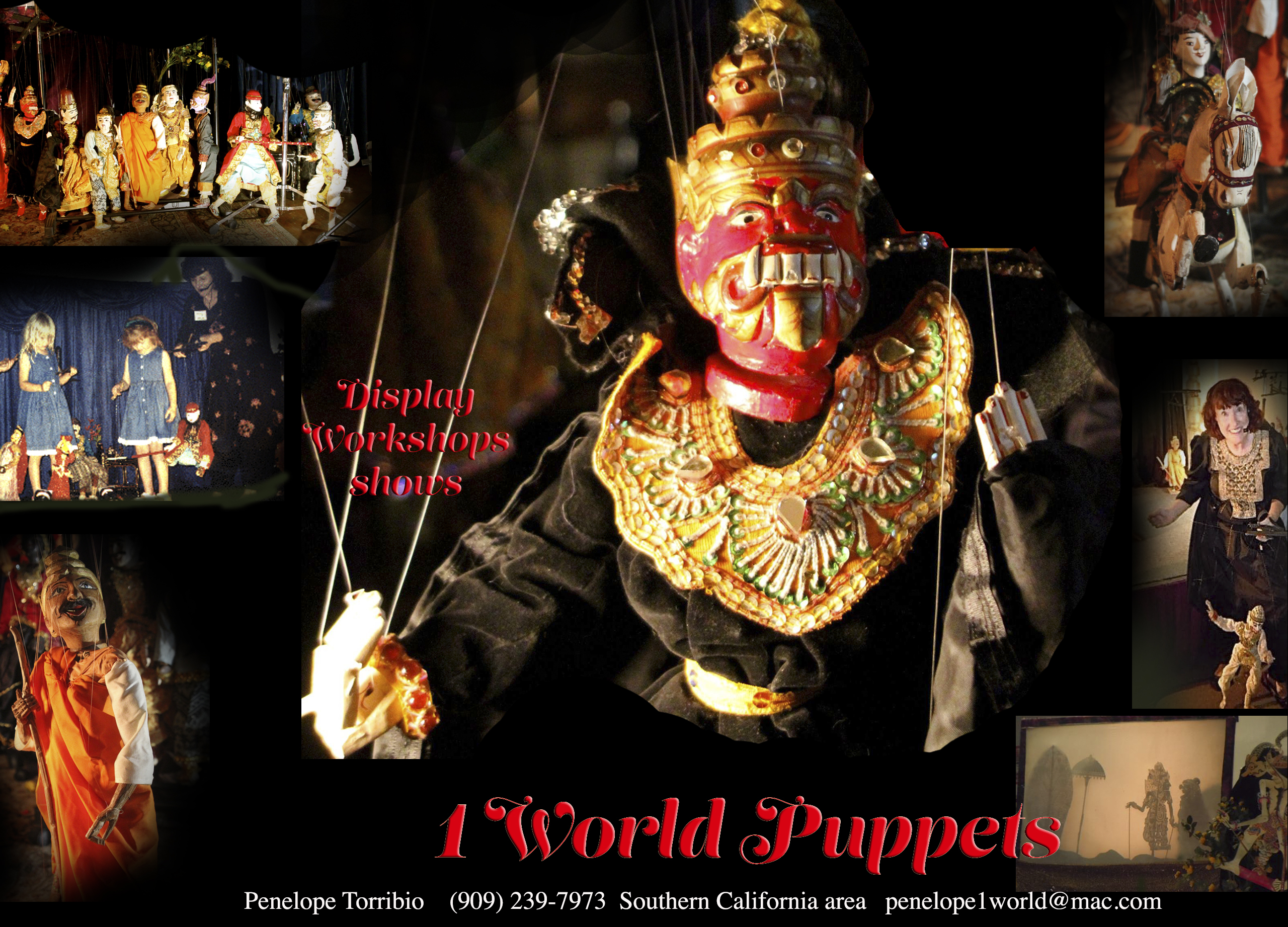 1 world Puppets postcard