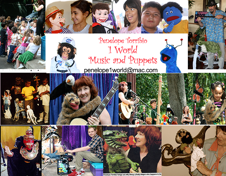1 World Music and Puppets post card
