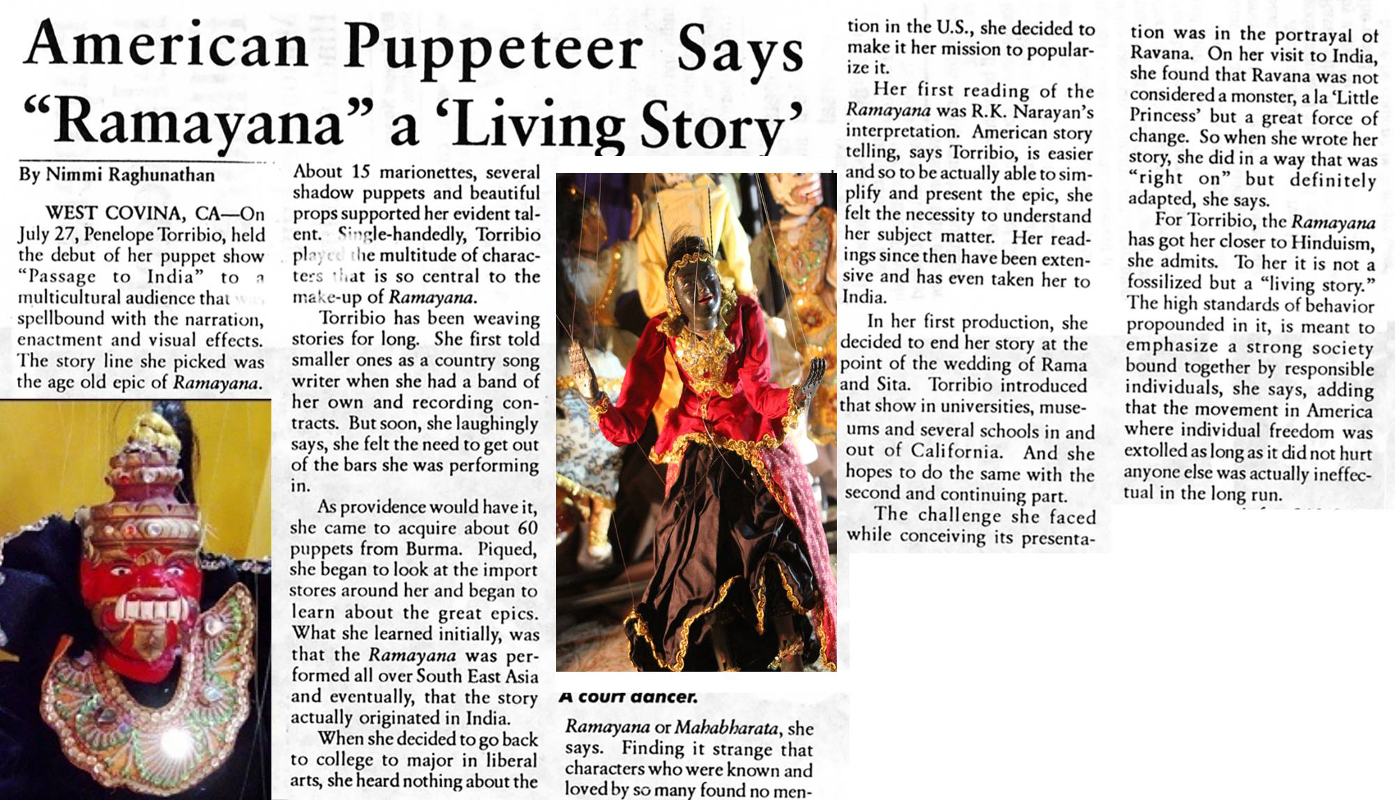 Ramayana is a living story, Penelope's marionette and shadow puppet adaptation of the Ramayana