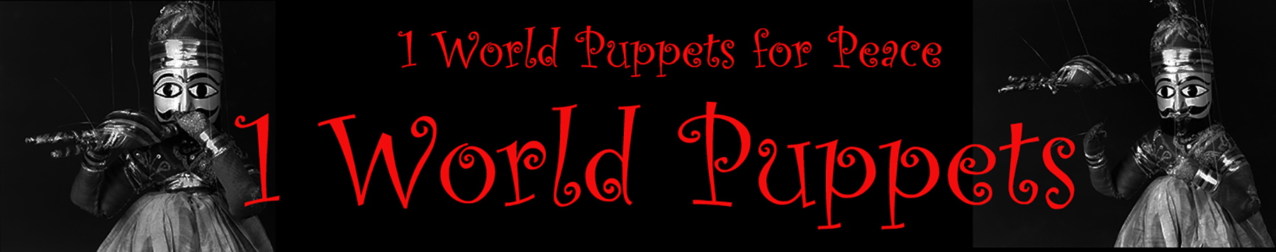 1 World Puppets and 1 World Puppets for Peace Logo title