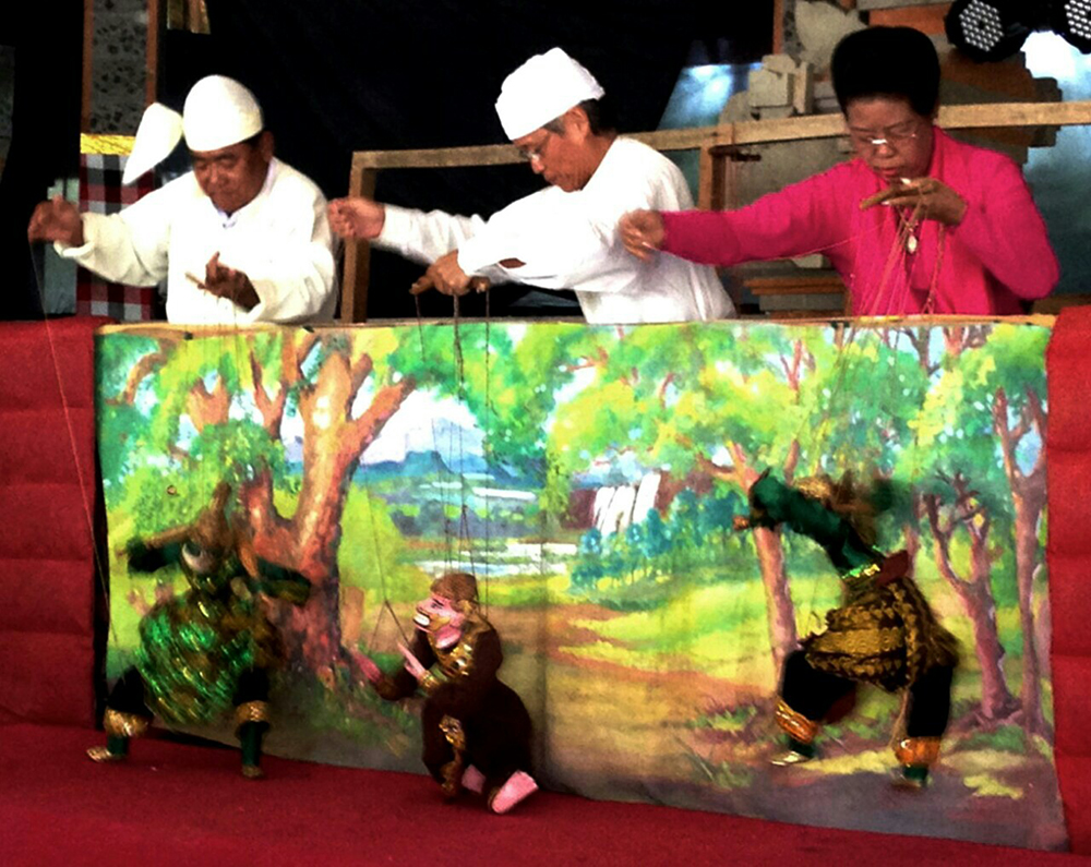 Mama Naing, Queen of Mandalay Marionettes, Burma uses puppets to teach health and other issues in tribal areas.